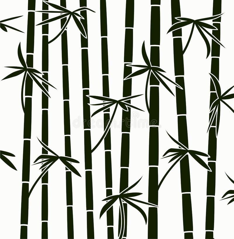 Tiros de bambu ilustração royalty free