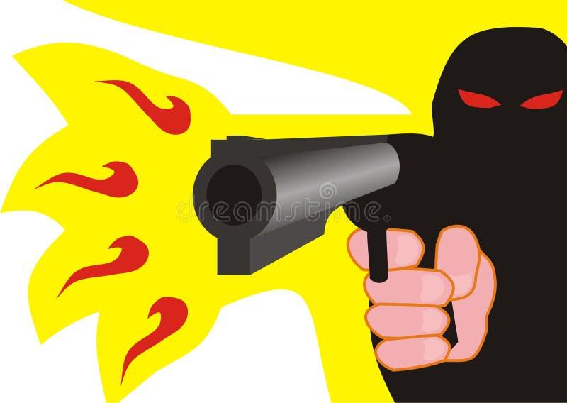 Tiroteo del pistolero libre illustration