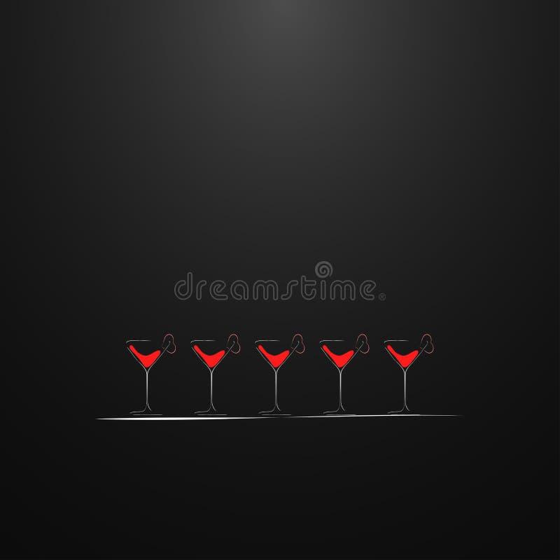 Tirs avec une boisson Conception de carte illustration libre de droits