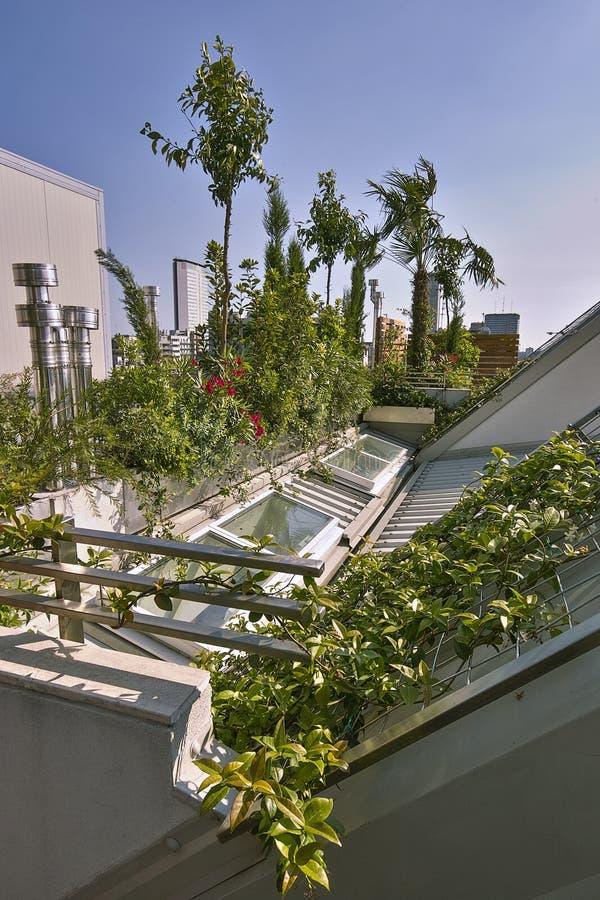 Tirs d'extérieurs d'une terrasse donnant sur sur Mylan image stock