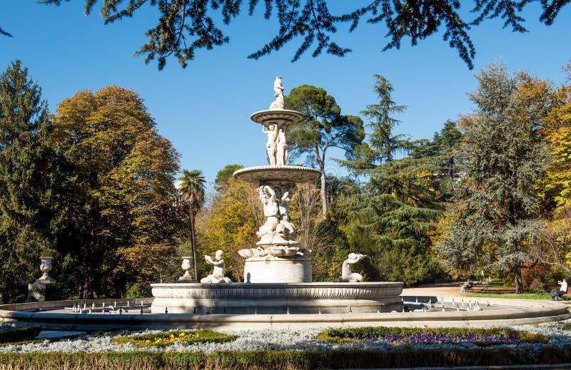 Tirs de ville de Madrid en novembre - de l'Espagne photo libre de droits