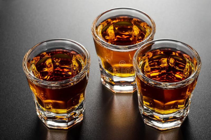 Tirs de whiskey photo stock