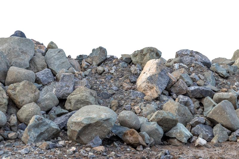 Tirs en gros plan de grandes piles de granit image stock