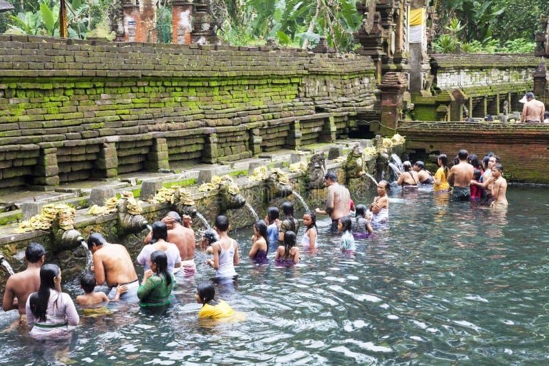 tirtha προσευχών του Μπαλί empul Ιν&del στοκ φωτογραφίες με δικαίωμα ελεύθερης χρήσης