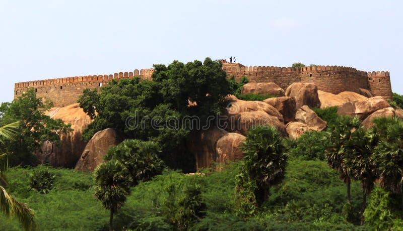Tirumayam fort. Fort Tirumayam, tamilnadu, india - Sethupathi Vijaya Raghunatha Tevan [1673-1708] of Ramanathapuram, popularly known as Kilavan Sethupathi, built stock photo