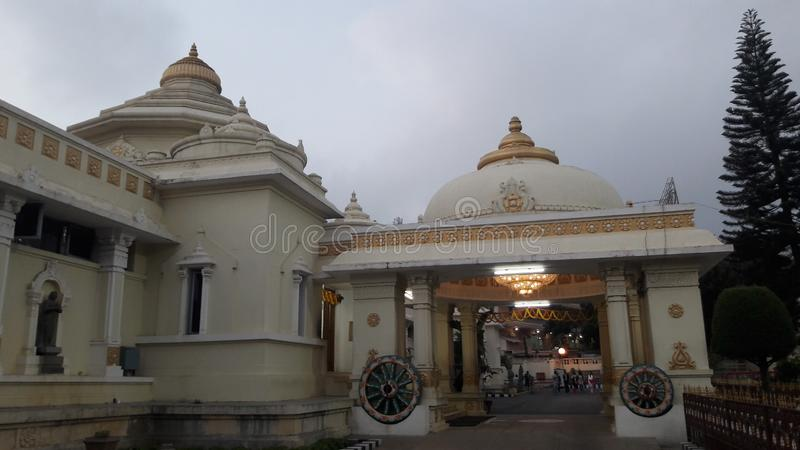 Tirupathi, Andhra Pradesh/India - februari twaalfde 2019: S V Museum van venkateswara van Lordsri in de avond in tirumala, Andhra royalty-vrije stock foto's