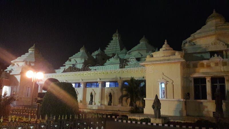Tirupathi, Andhra Pradesh/India - februari twaalfde 2019: S V Museum van venkateswara van Lordsri in de nacht in tirumala, Andhra stock foto