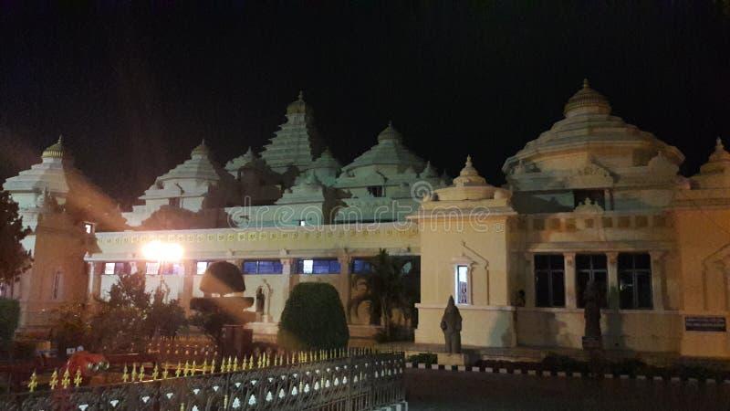Tirupathi Andhra Pradesh/Indien - februari 12th 2019: S V Museum av lordsrivenkateswaraen i natten i tirumalaen, Andhra royaltyfria bilder