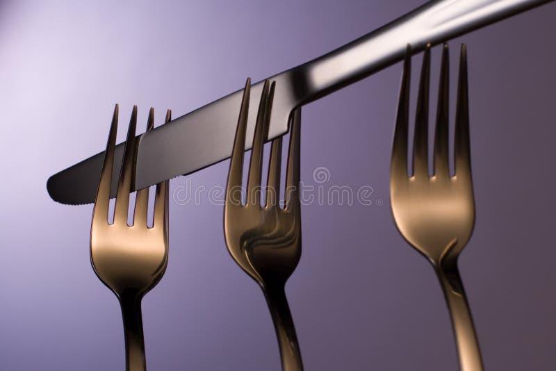 Tischbesteck stockbilder