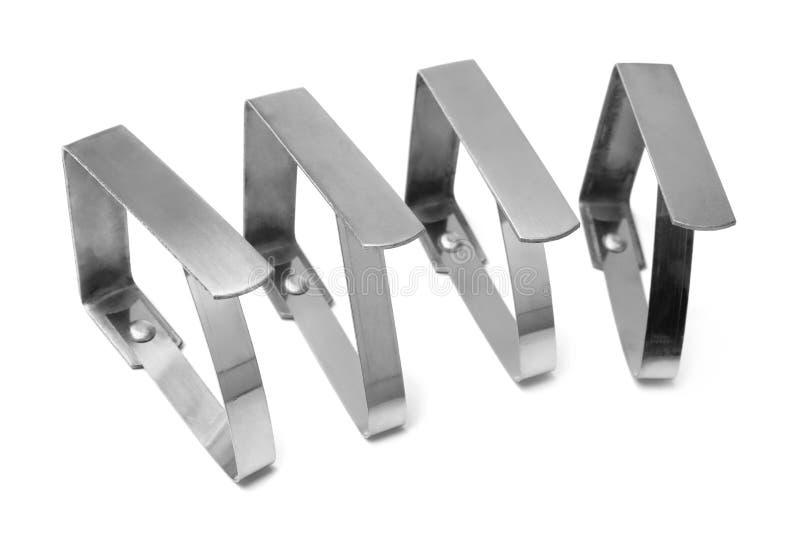 Tischdeckenklammern lizenzfreie stockfotos