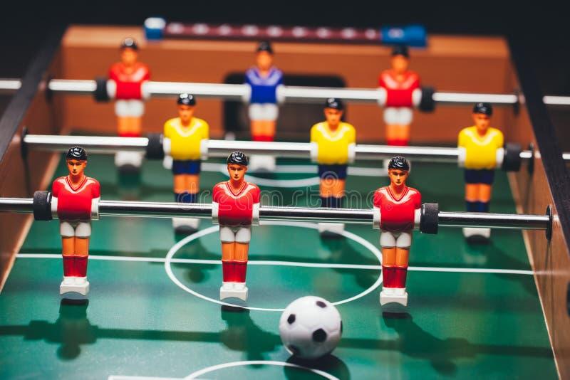 Tischfußballfußballspiel u. x28; kicker& x29; lizenzfreies stockfoto