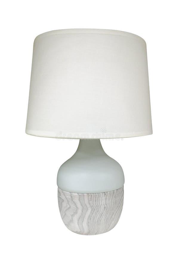Tischlampe lokalisiert auf weißem Hintergrund Tabellenlampe getrennt stockfoto