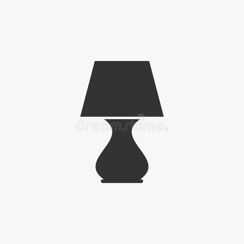Tischlampeikone, Lampe, Licht lizenzfreie abbildung