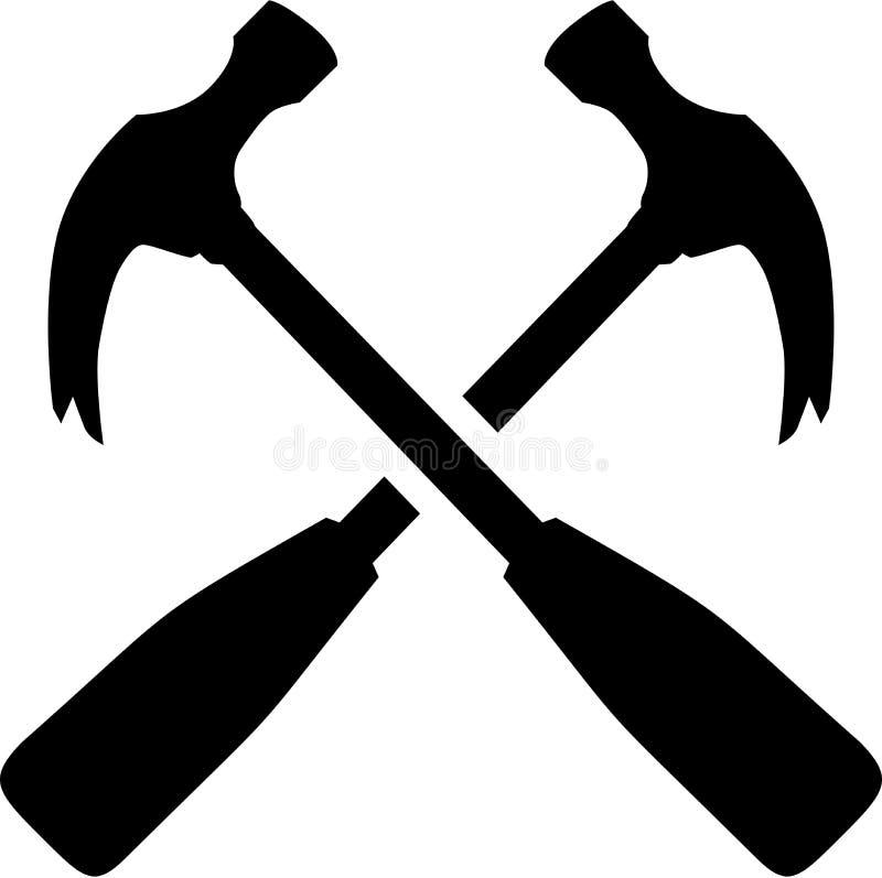 Tischler Hammer Tools lizenzfreie abbildung