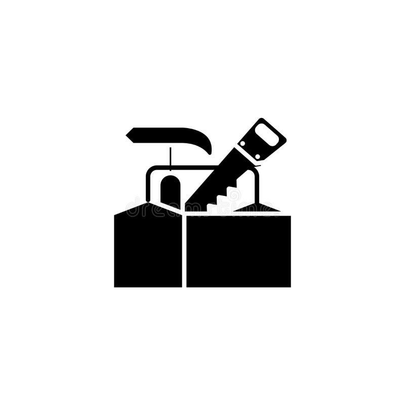 Tischler ` s Ausstattungsschwarz-Ikonenkonzept Tischler ` s flaches Vektorsymbol Ausstattung, Zeichen, Illustration vektor abbildung