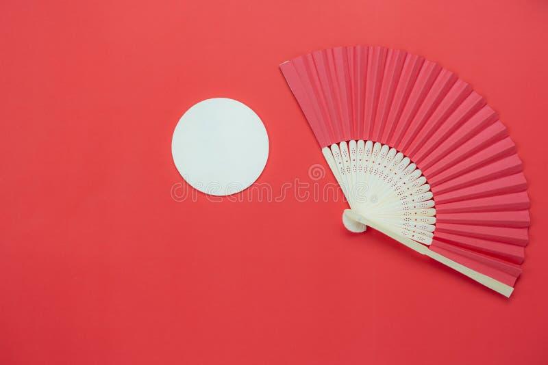 Tischplatteansicht-Luftbild Dekorationen des chinesischen Mond-Festivalhintergrundes lizenzfreie stockfotografie