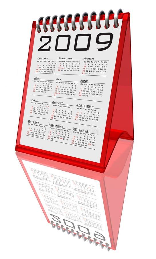 Tischplattenkalender 2009 - Pfad lizenzfreie abbildung