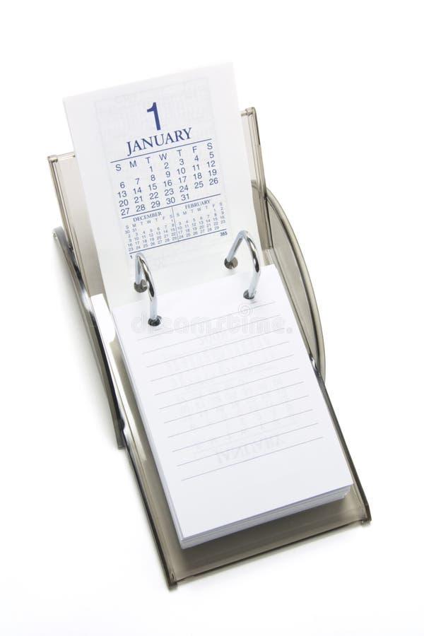 Tischplattenkalender lizenzfreie stockbilder