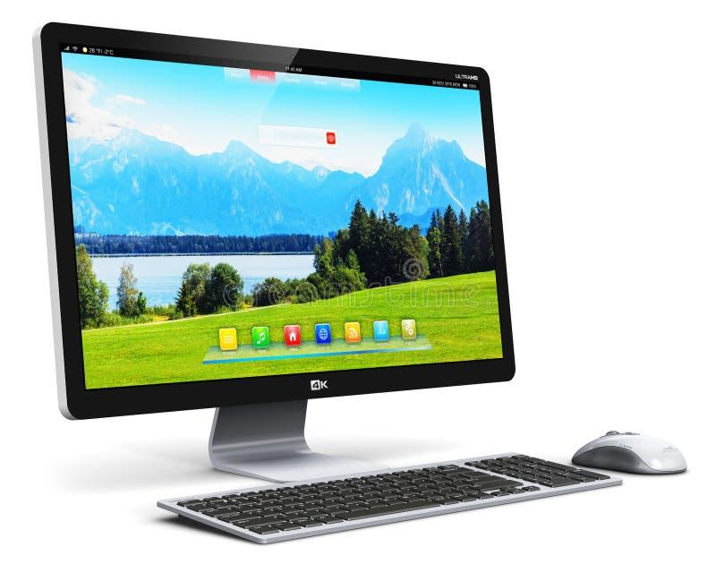 Tischrechner PC stock abbildung