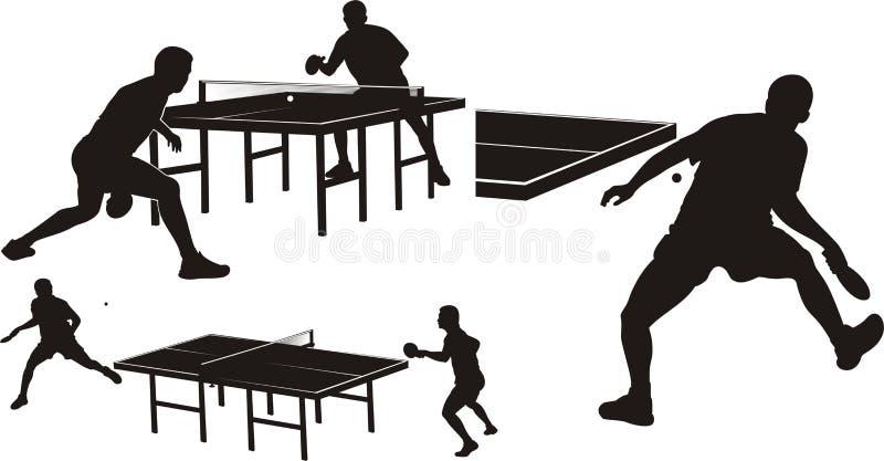 Tischtennis - Schattenbilder stock abbildung