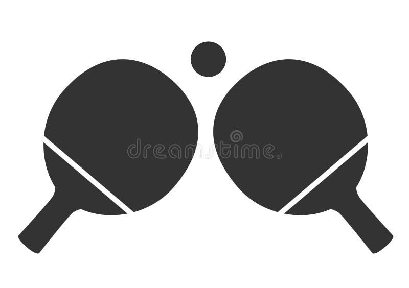 Tischtennisikone auf weißem Hintergrund Tischtennissportikone lizenzfreie abbildung