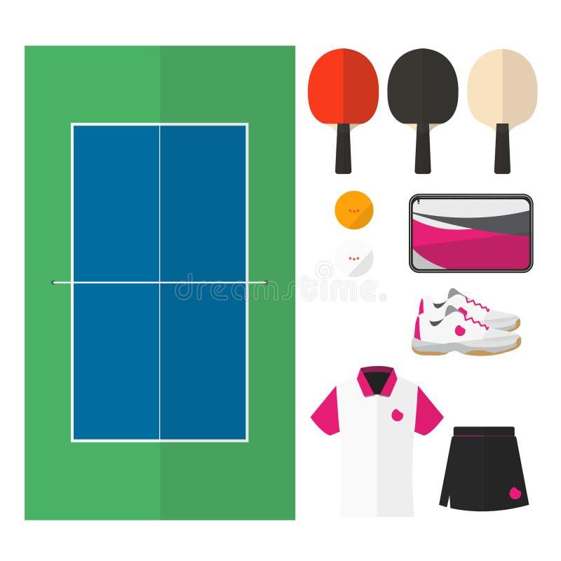 Tischtennissachen 002 lizenzfreies stockbild