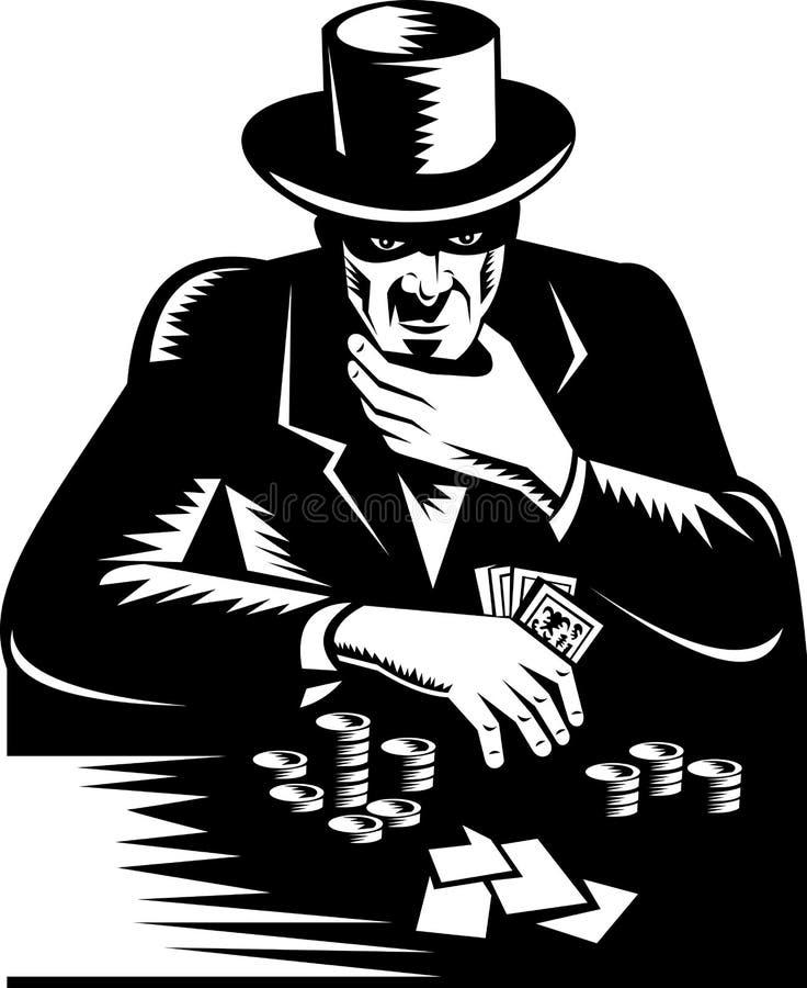 Tisonnier de jeu de carte de jeu d'homme illustration stock