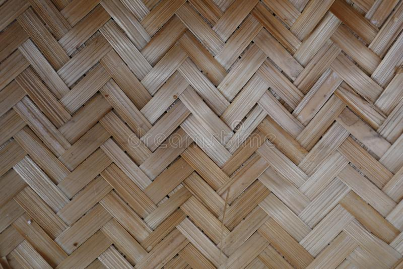 Tissage de bambou ou de paille fond en bois de texture de panier images libres de droits