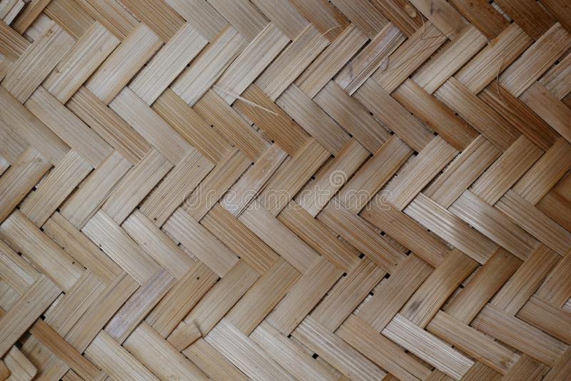 Tissage de bambou ou de paille fond en bois de texture de panier photos stock