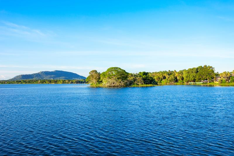 Tissamaharama湖,斯里兰卡 库存图片