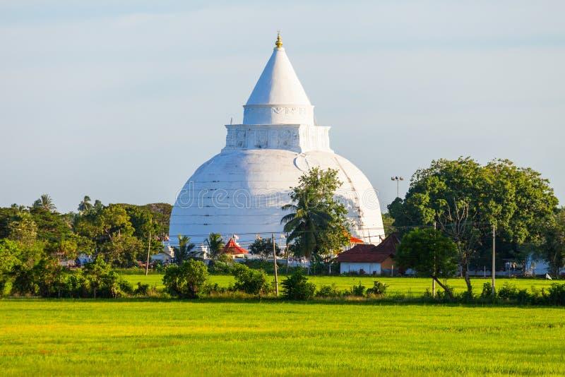 Tissamaharama Raja Maha Vihara. Is a Buddhist stupa and temple in Tissamaharama, Sri Lanka stock image