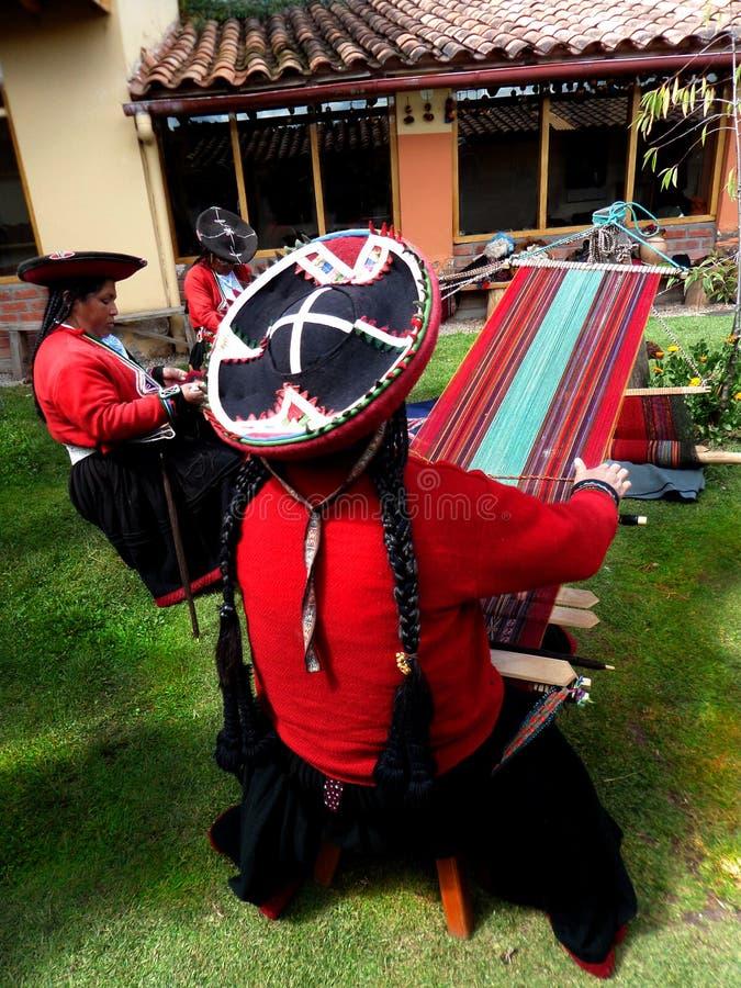 Tisserands de Cusco photographie stock