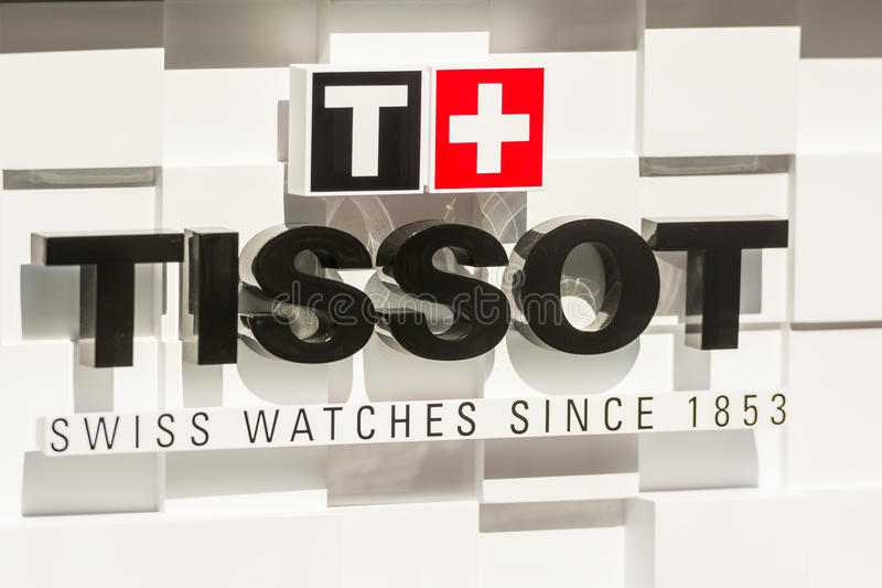 Tissot-Uhr-Shop lizenzfreie stockfotos