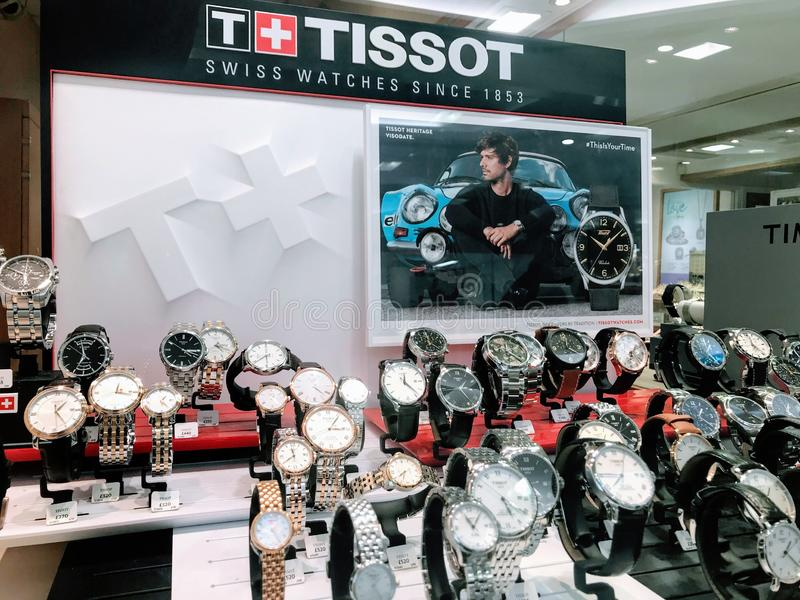 Tissot watches stock photo