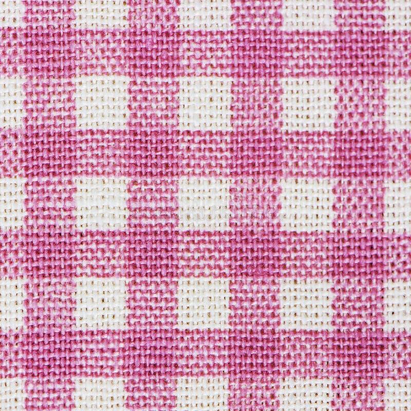 Tissu à carreaux classique rose photographie stock