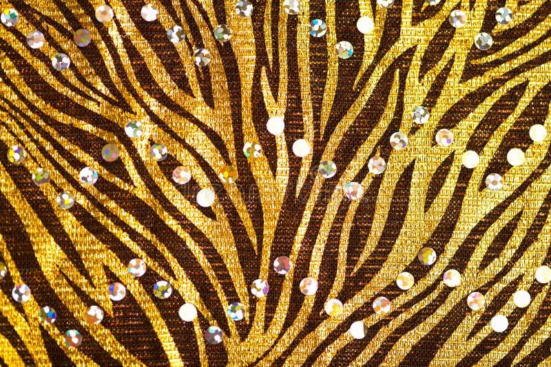 tissu abstrait de fond d'or photographie stock libre de droits
