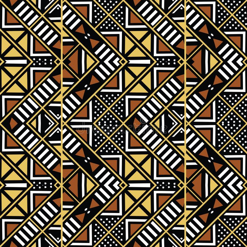 Tissu africain d'impression, éléments géométriques bologan ethniques de motifs de conception, ethniques et tribals Dirigez la tex illustration libre de droits