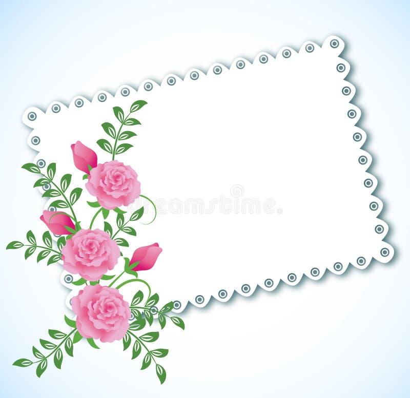 Tissu avec des bords de lacet illustration stock