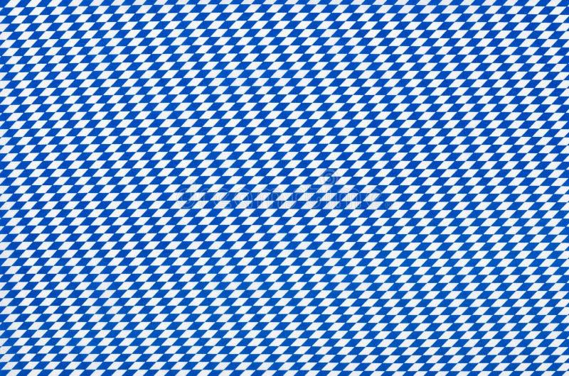 Tissu avec le modèle bleu de diamant photographie stock