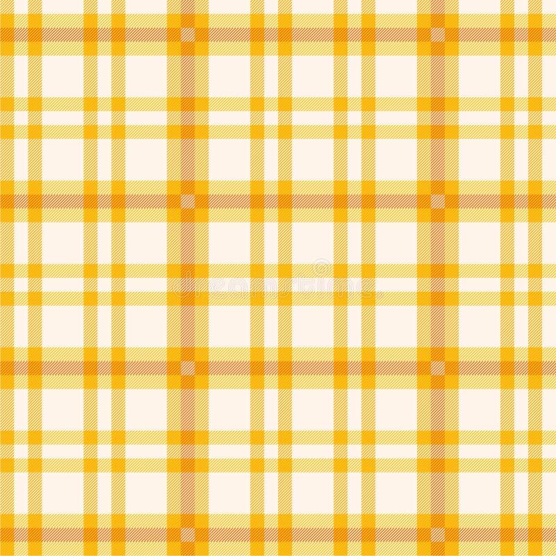 Tissu avec le modèle orange illustration de vecteur