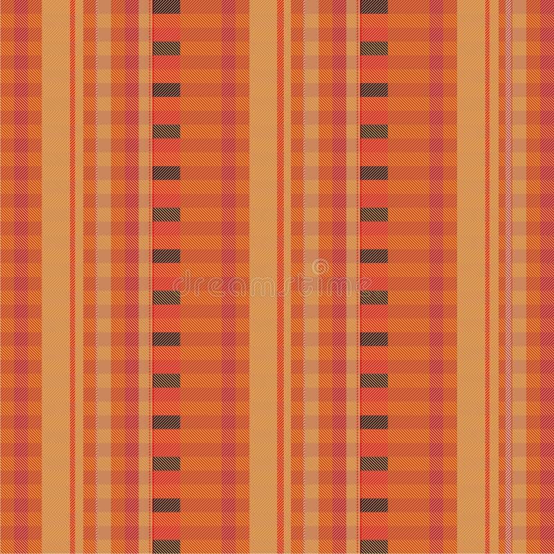 Tissu avec les filets bruns illustration libre de droits