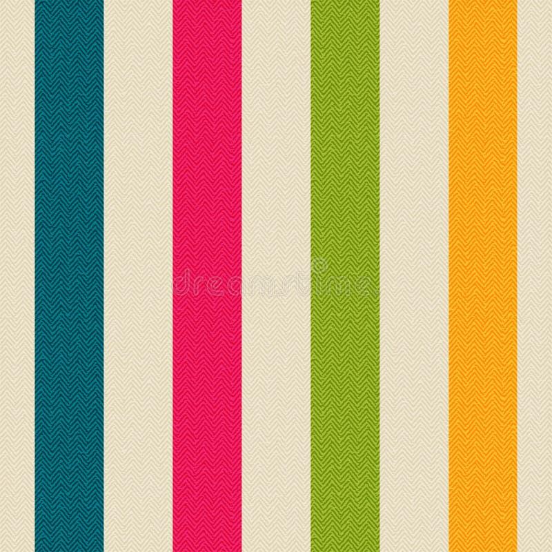 Tissu avec les rayures colorées illustration libre de droits