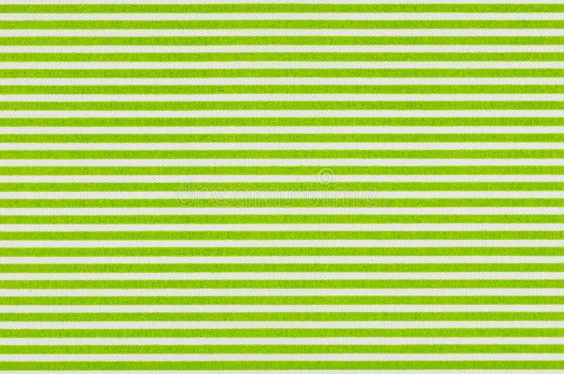 Tissu blanc avec les rayures vertes images libres de droits