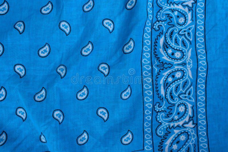 Tissu bleu, bandana photo stock