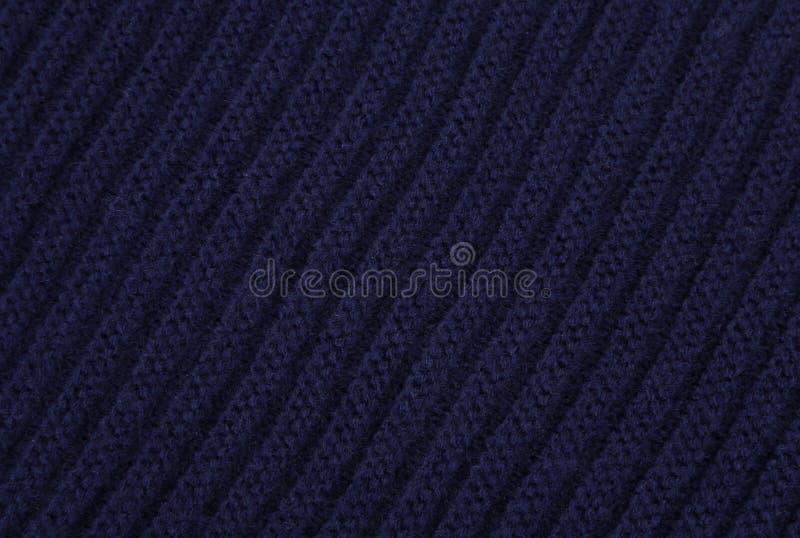 tissu bleu tricoté photographie stock libre de droits