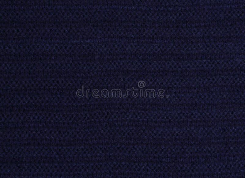 tissu bleu tricoté images stock