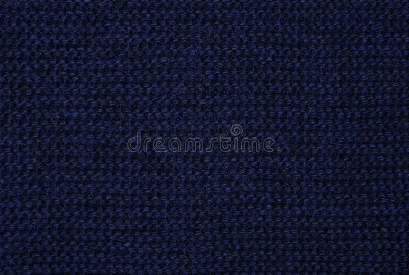 tissu bleu tricoté photos stock