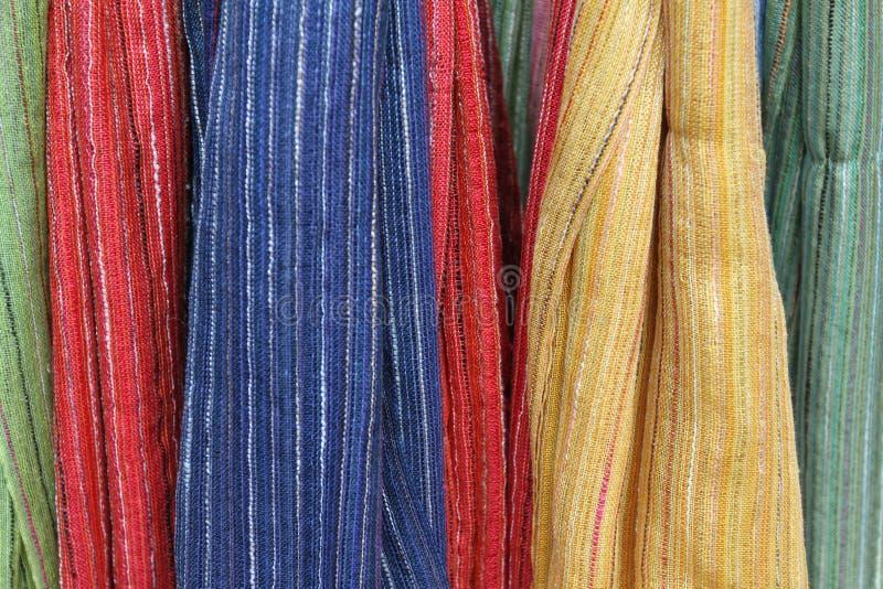 Tissu coloré photos libres de droits