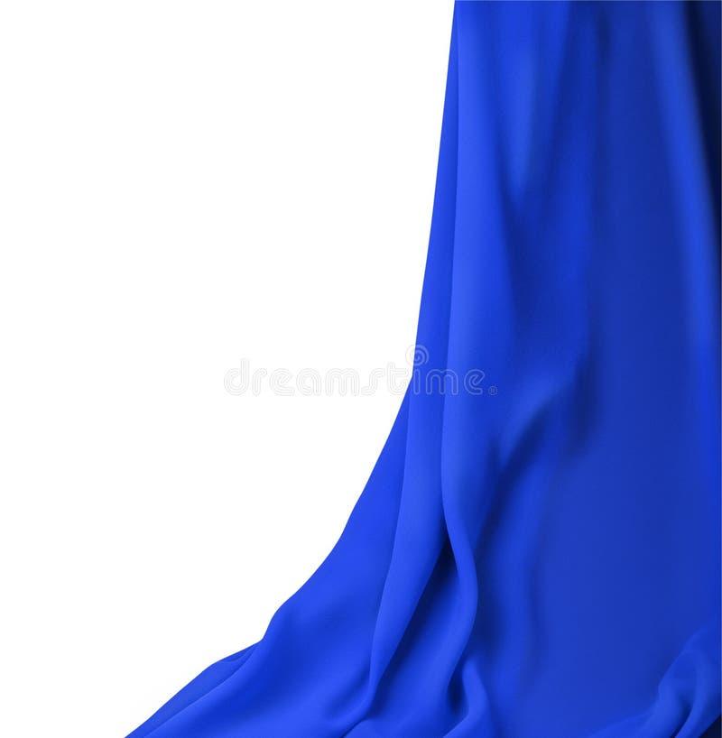 Tissu de bleu de rideau images stock