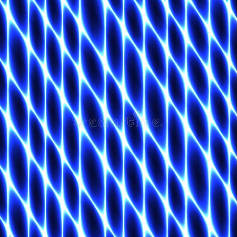 Tissu de cellules, fabrication, nid d'abeilles, néon bleu abstrait clôturant le fond illustration de vecteur